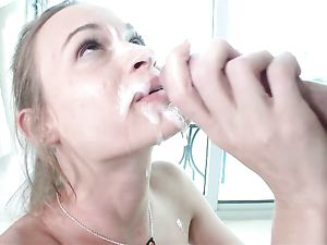 Moaning Skinny Chick Has A Big Dick In Her Cunt