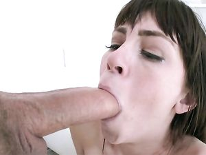 Pierced Tongue Teen Blowjob For His Big Dick