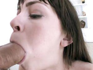 Pierced Tongue Teen Blowjob For His Big Dick