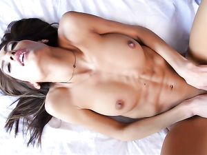 Big Dick Unloads A Thick Cumshot On The Tight Girl