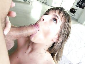 Masturbating Teen Interrupted By A Horny Big Dick Guy