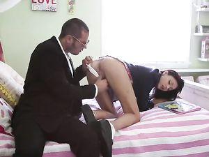 Sex With A Schoolgirl Makes Them Both Cum