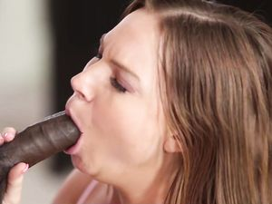 BBC Creampie For The Curvy Brunette Teenager