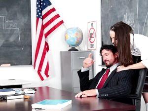 Petite Schoolgirl And Her Older Teacher Fucking Wildly