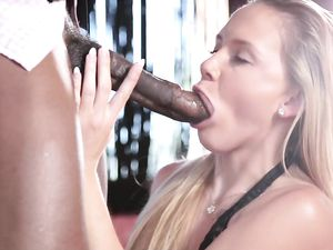 Tight Blonde Teen Beauty Impaled On Big Black Cock