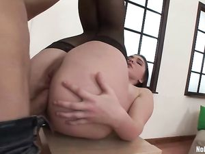 Anal Workout With His Hard Cock Hammering Her Deeply
