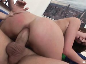 Anally Toyed Teens Are Ready For His Big Cock