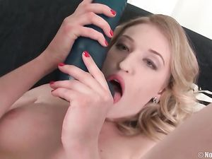 Classy Looking Solo Teen Fucking Huge Toys