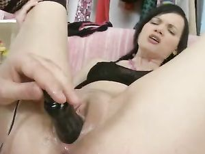 Teen Cunt Stretched By Toys And His Big Cock Meat