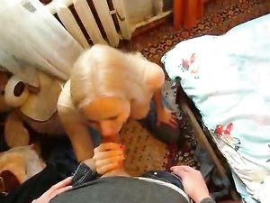 Blonde Cutie Brings Him Home To Enjoy His Big Dick