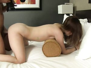 Big Dick Balling A Cute First Time Porn Slut In Bed
