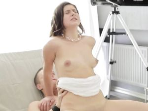 Cum Spills From His Cock After Fucking A Teen