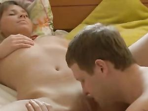 Curvy Teen GF And Her Man Fuck Sensually