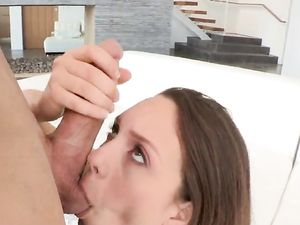 Jade Nile Sucks Big Cock With Her Perfect Lips