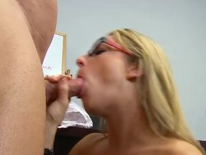 Hot Nerd And Her Teacher Fucking After Class