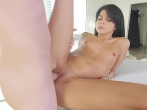 Sadie Stretches Her Tight Pussy Around His Big Dick