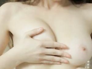 Perky Russian Tits Fondled As The Girl Masturbates