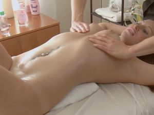 Young Lubed Girl Receives Big Cock Balls Deep