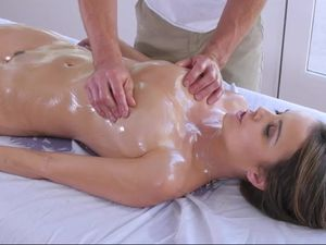 Porn Goddess Covered In Massage Oil And Fucked