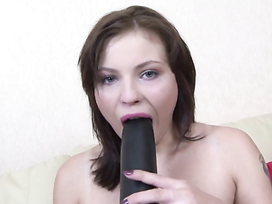 Sultry Toy Loving Slut Fucks Big Toys And Rubs Her Clit