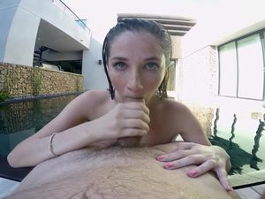Poolside POV Blowjob And Fucking With A Cutie