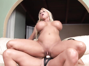 Big Strapon Cock Buried In The Cunt Of A Milf Slut