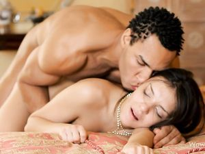 Erotic Interracial Hardcore With A Foxy Brunette