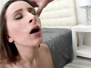 Big Tits Beauty Rides His Face With Her Bald Cunt