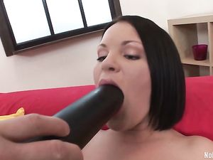 Guys Share A Teen In Stockings And DP Her Hard