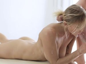Beauty On His Massage Table Moans For Doggystyle