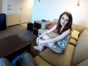 Slim Teen Redhead Takes It All Off And Gets Laid