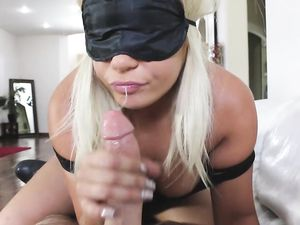 Hot As Hell Blonde Sucks Big Dick In Front Of The Camera