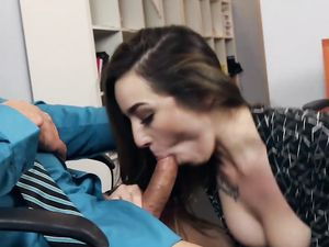 Young Slut Loves Fucking The Boss At Work On The Floor